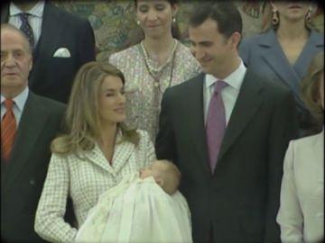 El nacimiento de la infanta Leonor abrió el debate sobre la prevalencia del hombre en la sucesión a la corona