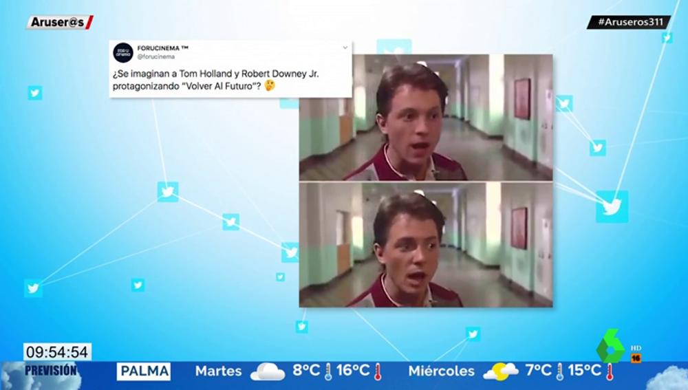 La nueva versión de 'Regreso al futuro' interpretada por los actores de Iron Man y Spiderman que arrasa en redes