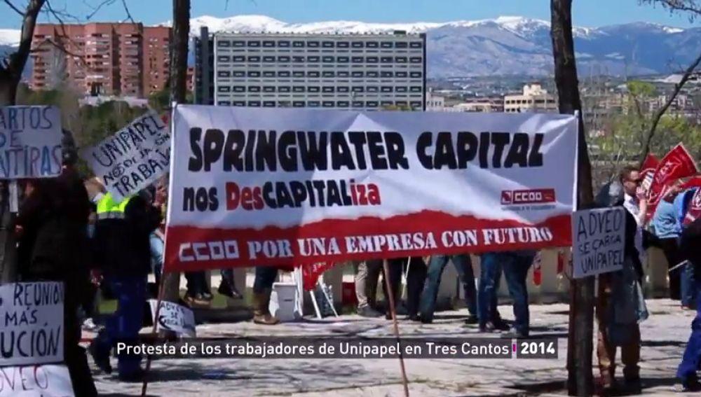 Protesta de los trabajadores de Unipapel