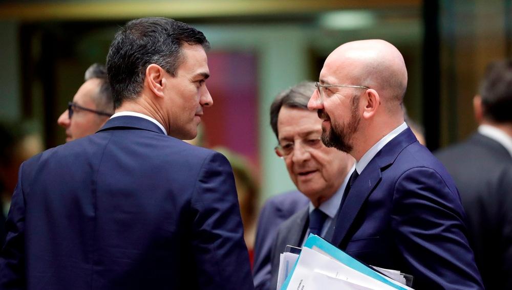 Pedro Sánchez con Charles Michel en una foto de archivo