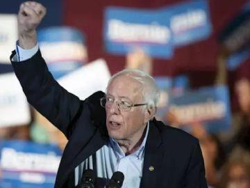 Imagen de Bernie Sanders, candidato del partido demócrata.