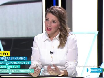 "Yolanda Díaz anuncia ""un cambio legislativo"" para dar garantías respecto a los falsos autónomos: ""Son autónomos sin autonomía"""