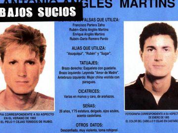 Cartel con fotografías de Antonio Anglés