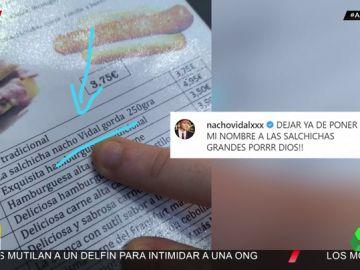 El cabreo de Nacho Vidal con los hosteleros por poner su nombre a las salchichas gordas