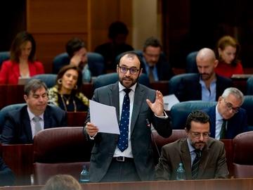 El consejero de Economía de la Comunidad de Madrid, Manuel Giménez Rasero