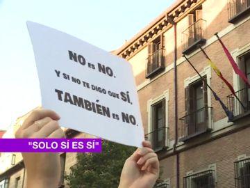Imagen de una pancarta de 'No es no'