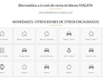Imagen de la web donde se vende patrimonio de los condenados por el 'caso Malaya'