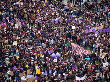 Una manifestación del 8-M del año pasado.