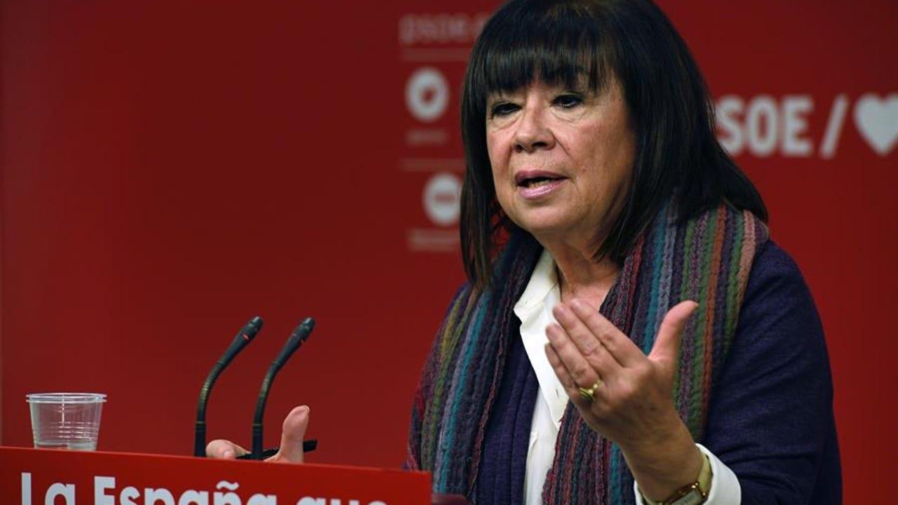 La presidenta del PSOE, Cristina Narbona