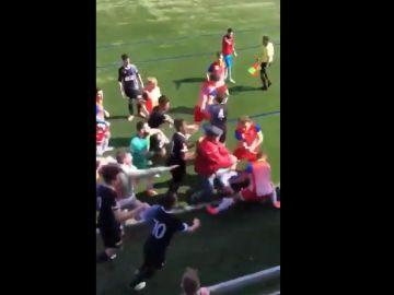 Pelea de jugadores en Oviedo