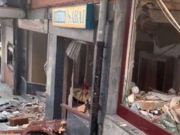 Al menos dos heridos en una fuerte explosión de gas en una cafetería en Getxo