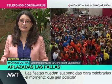 """Mónica Oltra: """"No sabemos cuándo, pero las Fallas volverán a plantarse y a ser la fiesta más grande"""""""