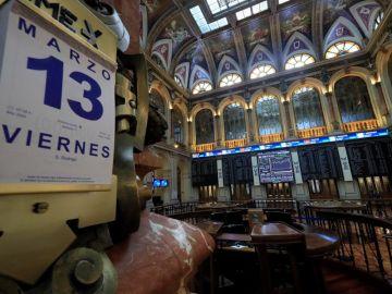La Bolsa de Madrid este viernes, 13 de marzo