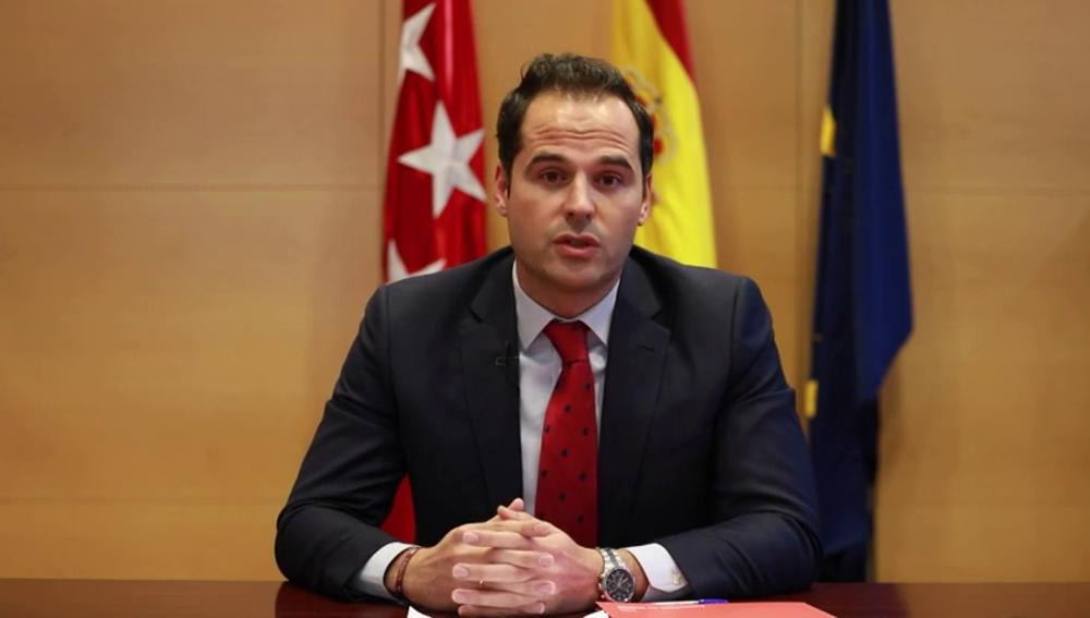 """Ignacio Aguado: """"Pido comprensión, paciencia y confianza a todos los madrileños"""""""