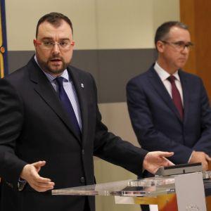 Adrián Barbón y Pablo Fernández