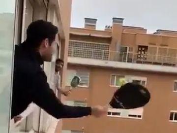 Pádel desde las ventanas