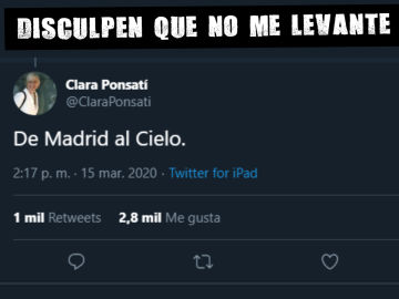 Polémico tweet de Clara Ponsatí