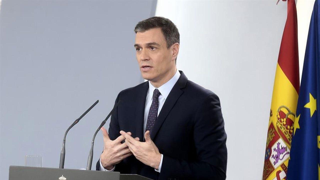 Pedro Sánchez desde La Moncloa