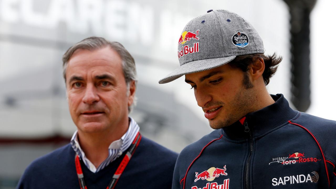 Carlos Sainz padre e hijo.