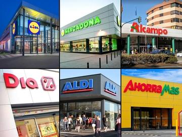 Imagen con varios de los supermercados de España