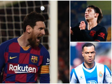Messi, Joao Félix y Raúl de Tomás