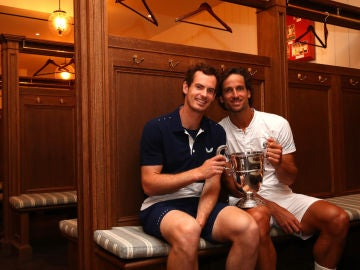 Andy Murray, con Feliciano López