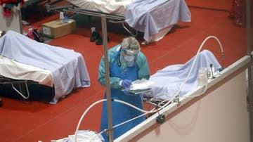 Imagen de archivo de personal sanitario en Ifema