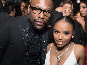 Floyd Mayweather, con su hija Iyanna