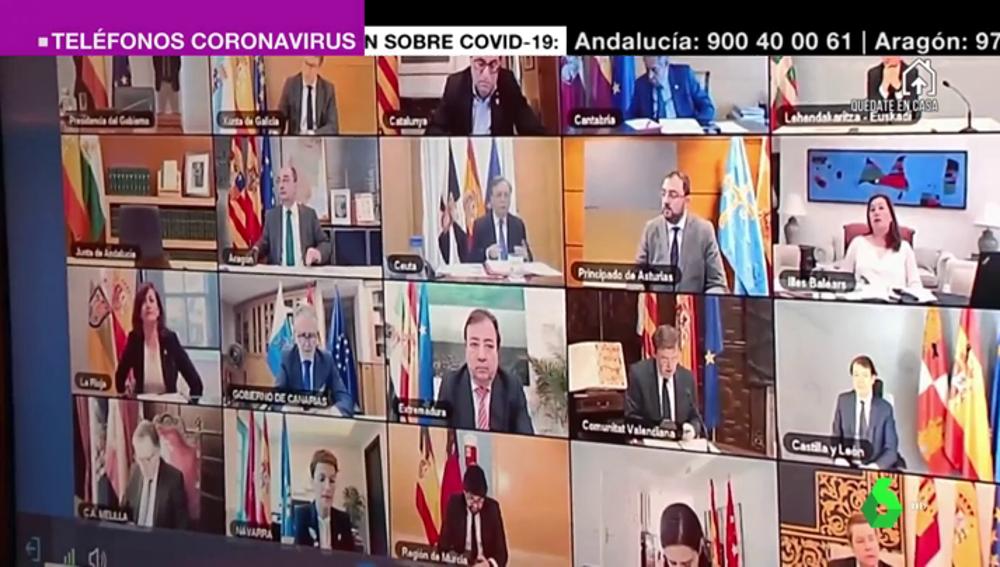 Unanimidad entre los presidentes autonómicos: apoyan la prórroga del estado de alarma pero piden más recursos