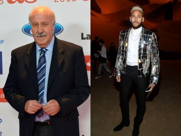 Del Bosque y Neymar Jr.
