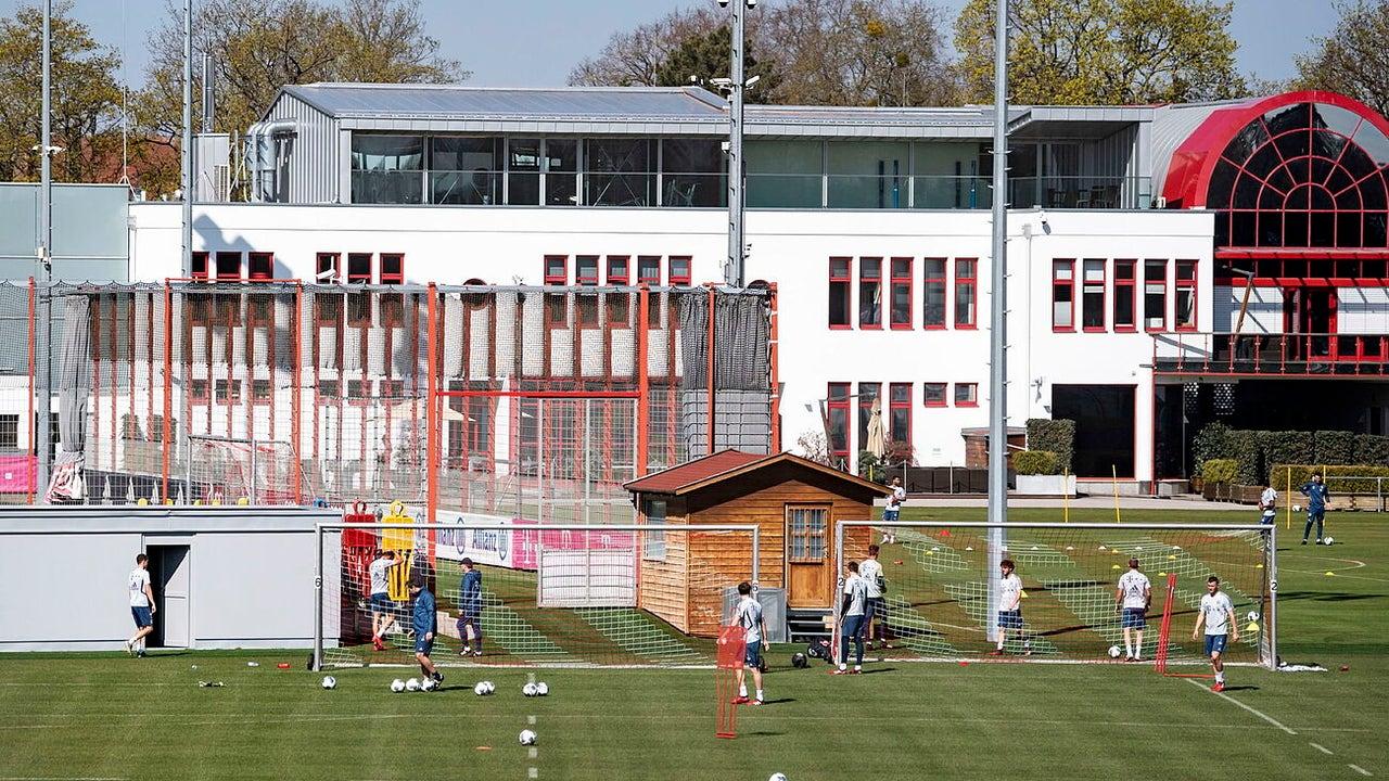 El Bayern Munich entrenando
