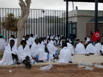 Un grupo de migrantes logra saltar la valla de Melilla