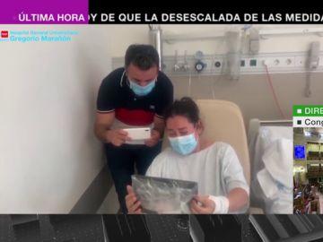 El Gregorio Marañón hace posible un piel con piel virtual para madres con coronavirus y sus recién nacidos