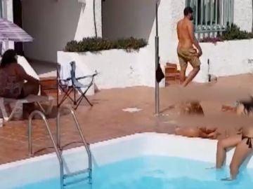 Fiesta en la piscina en Gran Canaria