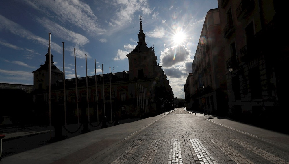 Vista de la Plaza de la Villa de Madrid