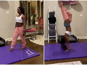 Simone Biles y el 'Handstand challenge'