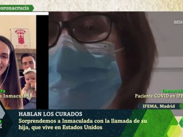 """El emocionante 'reencuentro' de una mujer contagiada de coronavirus con su hija en laSexta Noche: """"Pronto vas a estar en casa"""""""