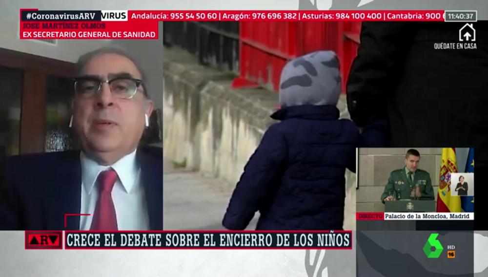 """José Martínez Olmos, sobre flexibilizar el confinamiento de los niños: """"Hay más riesgos que beneficios"""""""