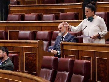 La diputada de Vox Macarena Olona interviene en la primera sesión de control al Ejecutivo celebrada en el Congreso