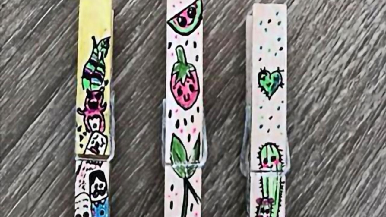 Las pinzas pintadas por Arlet