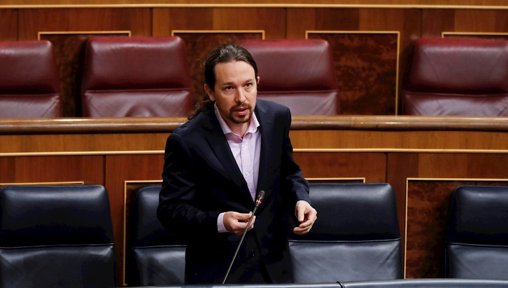El vicepresidente segundo, Pablo Iglesias, en la sesión de control