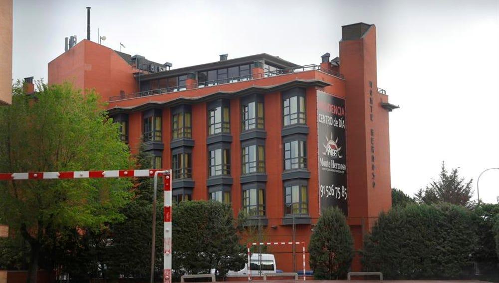 Vista de la residencia de la tercera edad Monte Hermoso en Madrid.