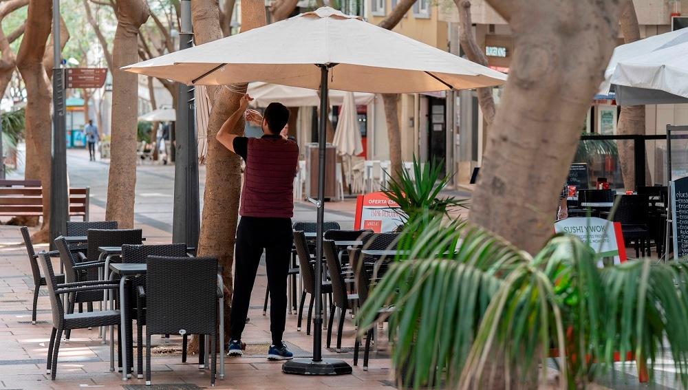 Imagen de archivo de una terraza