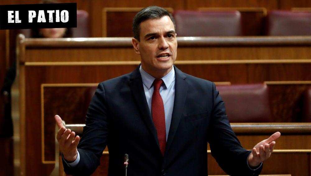 Pedro Sánchez, en una intervención en el Congreso