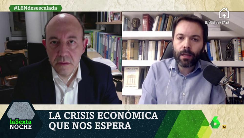 Debate entre Bernardos y Rallo por la crisis económica que se avecina en España: ¿subirán los impuestos?