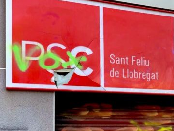 Imagen de la sede del PSC en Sant Feliu de Llobregat