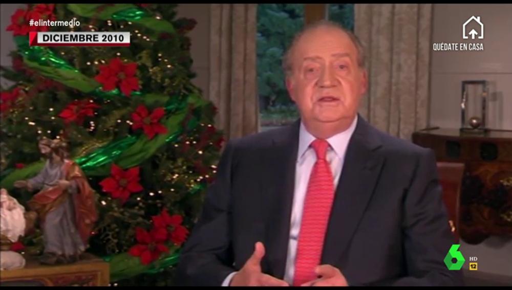 """El discurso del rey tras entregar 1,7 millones de euros en Suiza y en plena crisis en 2010: """"No caben actitudes de egoísmo"""""""