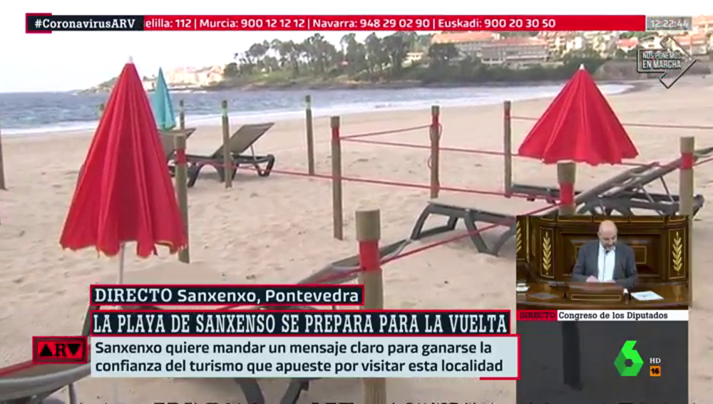 Playas divididas en cuadrículas: así se prepara Sanxenxo para la reapertura