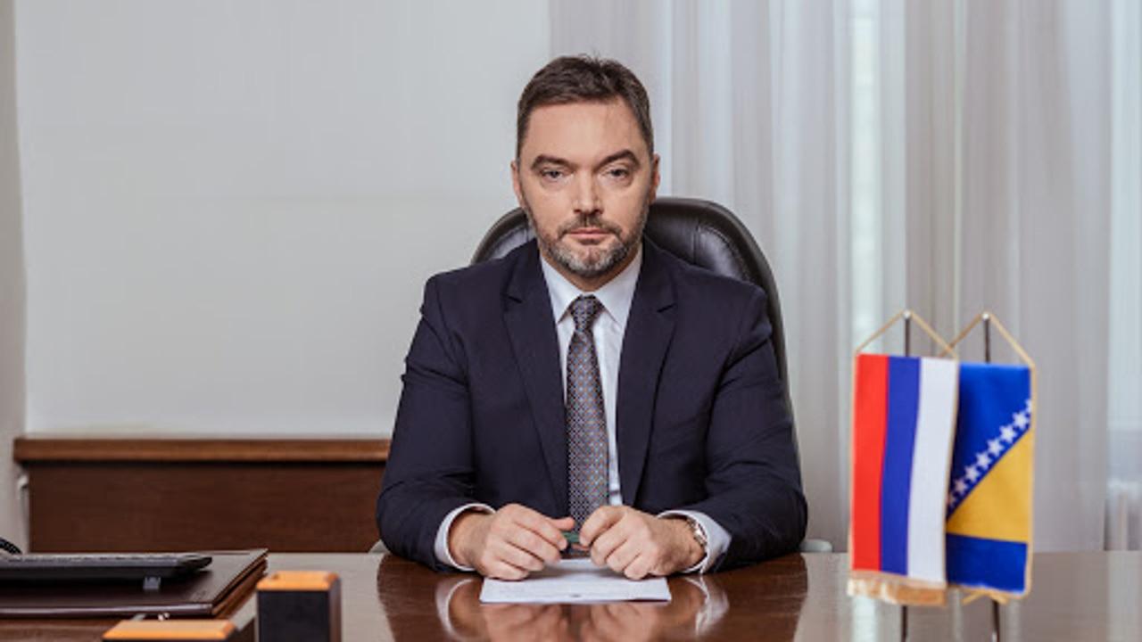 Imagen de archivo del ministro de Comercio Exterior de Bosnia, Staša Košarac.