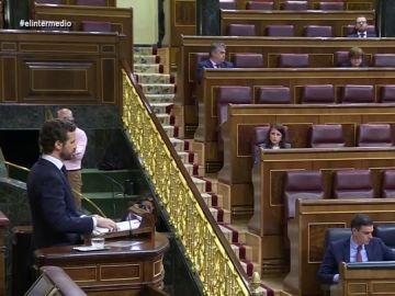 Pablo Casado critica a Pedro Sánchez